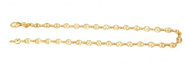Armband Gold 585 massiv Karabiner Bohnenkette 14 Karat Armkette 21 cm - Vorschau 2