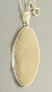 Ovales Medaillon Anhänger Gold 585 / 14 Kt Kettenanhänger Goldanhänger mit Kette