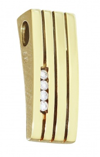 Anhänger Gold 585 Brillanten Kettenanhänger Brillantanhänger Diamant Top Design - Vorschau 1