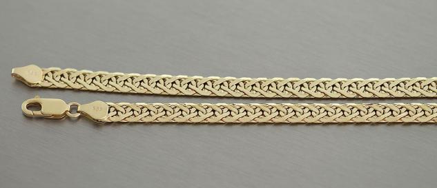 46 cm Goldcollier 585 Kette Gold 11, 1 gr. Halskette Goldkette elegantes Collier
