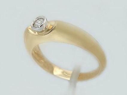 Brillantring Gold 585 klassischer Goldring 585 m. Brillant 0, 09 ct. Solitärring
