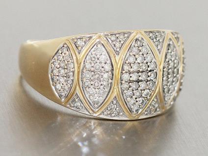 Diamantring Gold 585 - Damenring 14 kt - Goldring mit Diamanten ca. 0, 60 ct.