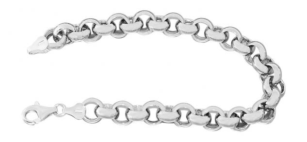 21 cm starkes Erbsketten Armband Sterlingsilber 925 Armkette Silberarmband rhod.
