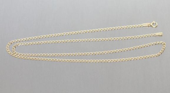 Goldkette 333 Panzerkette massiv Kette Gold Halskette 2, 2 mm breit 45 / 50 cm