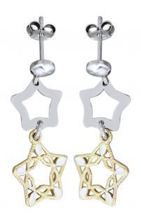 Ohrstecker Sterne Silber 925 Gold Ohrhänger Ohrringe Ohrschmuck Weihnachten