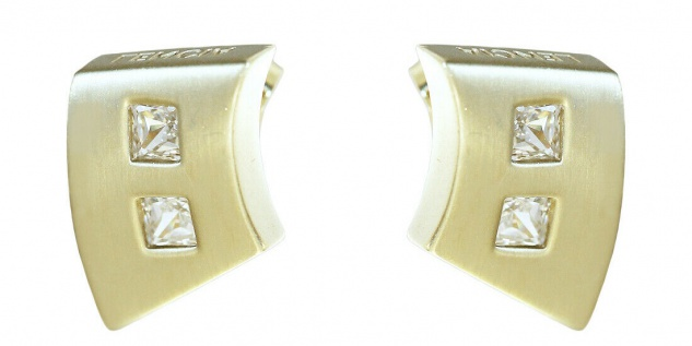 Ohrstecker Gold 585 Ohrschmuck Ohrringe 14 kt Goldohrstecker Zirkonia Carree