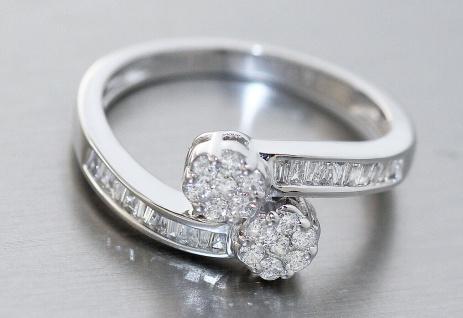 Eleganter wertvoller Ring Weißgold 750 Brillantring 0, 52 ct. Weißgoldring Gold - Vorschau 2