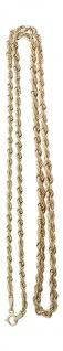 Kette Gold 333 Walliskette verlaufend Kordelkette Goldkette Collier 45 / 50 cm
