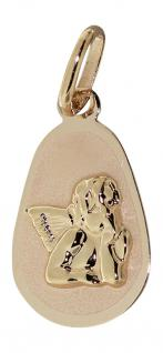 Kleiner Schutzengel Anhänger Gold 585 / 14 Kt. Engel Raffael Goldanhänger Kinder