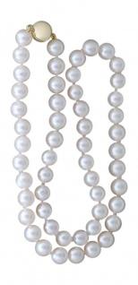 Echte Perlenkette mit Gold 585 Magnetverschluss 46 cm lange Kette Perlen Collier