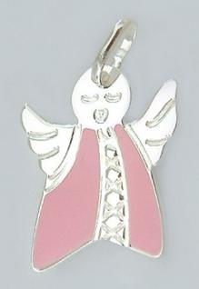 Bezaubernder Schutzengel in Silber 925 mit rosa Kleid Silberanhänger Anhänger