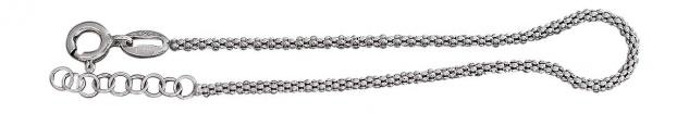 17 cm Armband Silber 925 Himbeerkette - Silberarmband - rundes Armband Armkette