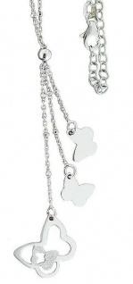 Silberkette 925 Anhänger Schmetterlinge Collier Halskette Y-Kette Karabiner