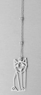 Silberkette und Anhänger Katze Sterlingsilber 925 Halskette echt Silber Collier