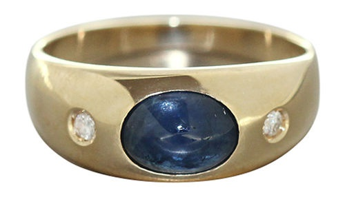 Allianzring Gold 585 Saphir Brillanten Goldring Diamant Damenring Brillantring