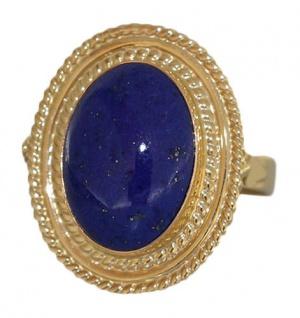 Lapis Lazuli Ring Gold 750 Goldring Lapiscabochon Damenring 18 Karat