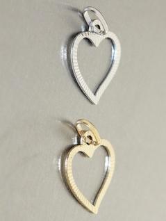 Herz Anhänger Gold 585 Weißgold oder Gelbgold geschliffen Liebeserklärung - Vorschau 4