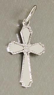 Kleines Kreuz Weißgold 585 - Anhänger Kreuz Gold Weißgoldkreuz - Taufe Kommunion