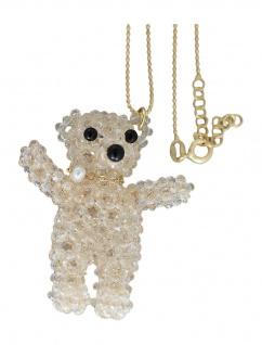 Teddybär Anhänger 925 Teddy hellblau rosa gold lila weiß Kettenanhänger