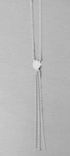 Zartes Collier Silber 925 rhodiniert Silberkette Y Kette mit Anhänger Halskette