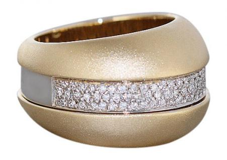 Brillantring 0, 60 ct. schwerer Goldring 750 mit Brillant Ring Gold 19 gr. 18kt