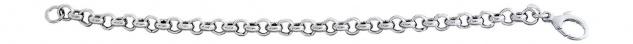 20 cm Armband Silber 925 Erbskette Silberarmband Armkette rhodiniert Kette