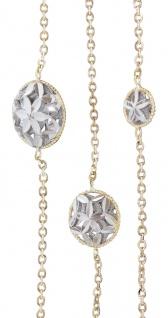 Goldkette 750 / 18 kt bicolor Collier runde Dekor Glieder 87 cm Halskette