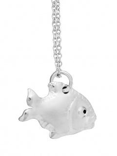 Kette und Anhänger Silber 925 Fisch massive Silberkette Halskette Collier
