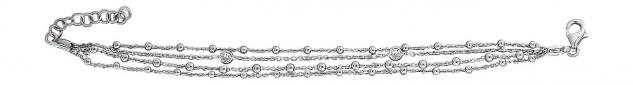 Silberarmband 925 Kugelarmband mit Zirkonia 4-reihige Kugel Armkette Silber