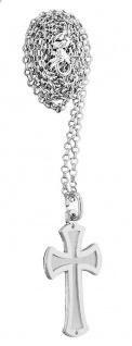 Kreuz Anhänger Silber 925 massiv wahlweise mit Silberkette Erbskette Karabiner