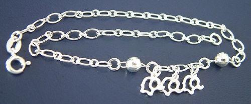 Sexy Blickfang Fußkettchen Silber 925 massiv Fußkette Silberkette Kette Damen