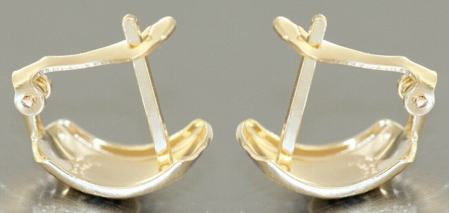 Creolen Gold 585 bicolor Ohrringe Halbcreolen Gold 14 Karat Damen Mädchen - Vorschau 3