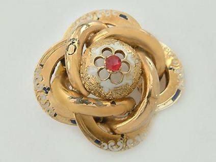 Brosche Wien um 1835/40 antike Brosche Schaumgold 585