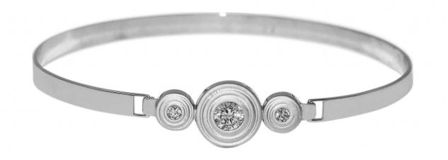 Traumhafter Armreif Silber 925 m. Zirkonias - echter Silberarmreif Armspange