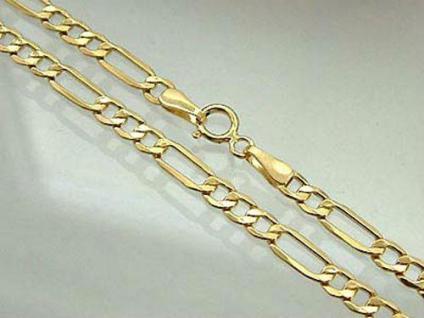 Figaroarmband Armband Gold 585 breites Goldarmband 22 cm tolle Armkette