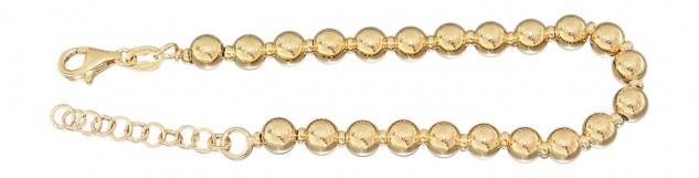 Armband Silber 925 vergoldet 8 mm Silberarmband Kugelarmband Gold pl Armkette