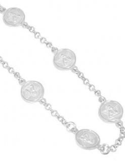Schutzengel Armband Silber 925 Armkette mit 5 Engeln Silberarmband Angelo Kreuz