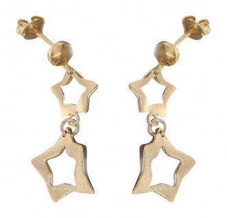 Stern Ohrstecker Silber 925 - Gold Ohrhänger Sterne - Silberohrhänger vergoldet