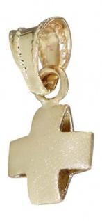 Kleines gleichschenkeliges Kreuz Gold 585 Anhänger Goldkreuz 14 kt Goldanhänger