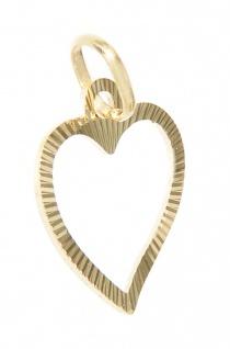Herz Anhänger Gold 585 Weißgold oder Gelbgold geschliffen Liebeserklärung