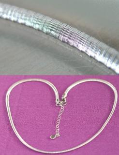 Flexibler Halsreif Silber 925 Collier 42 bis 48 cm Silberkette 2, 9 mm Karabiner