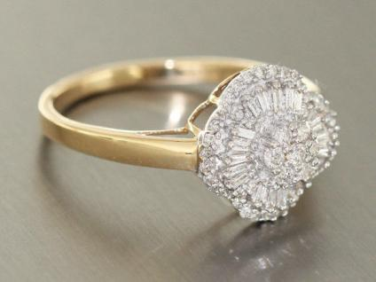 Luxus Brillantring Gold 585 Diamantring 0, 50 ct. Goldring Ring RW 66 - Vorschau 2