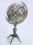 Globus in Silber 925 Miniatur zum Sammeln Silberglobus 53 gr. Sammelobjekt