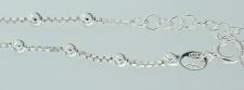 Fußkettchen Silber 925 - trendy Kugelkette - Fußkette Sterlingsilber Silberkette