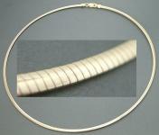 45 cm Omega 925 Silber massiv Halsreif Gold pl Halsreif Sterlingsilber vergoldet