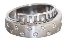 Design Weißgoldring 585 Brillanten 0, 21 ct. Ring Weißgold Brillantring Ring Gold