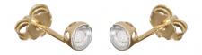 Ohrstecker Gold 585 mit Brillanten Goldohrstecker bicolor mit Brillant 0, 06 ct.