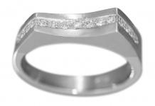 Ring Weißgold 585 massiv Brillantring 0, 18 ct. Goldring 14 Karat Damenring