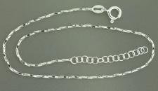 Funkelndes Fußkettchen Sterlingsilber 925 - Silberkette - feine Fußkette Silber