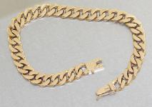 Armband Gold 585 - 14 Karat - Goldarmband 21, 0 cm lang - Armkette Goldkette